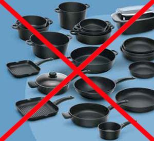 Pentole in ceramica e metalli non per microonde
