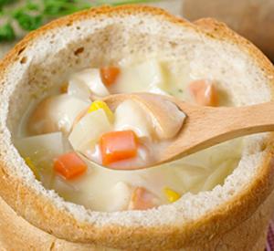 Zuppa di vongole al microonde